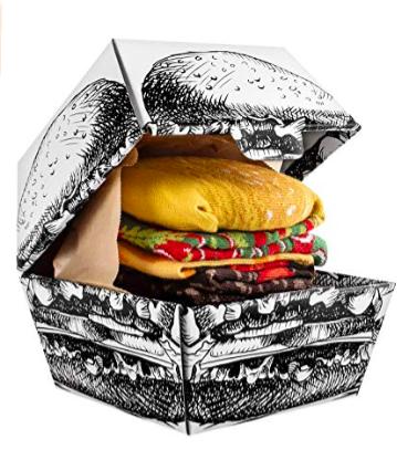rainbow socks hamburger