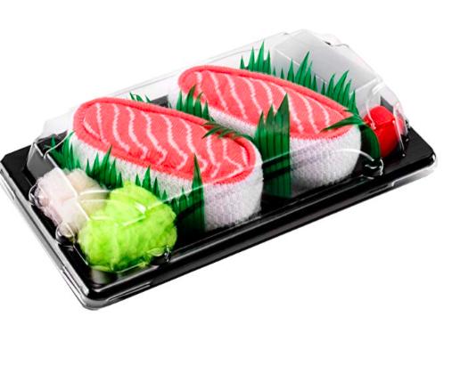 rainbow socks sushi