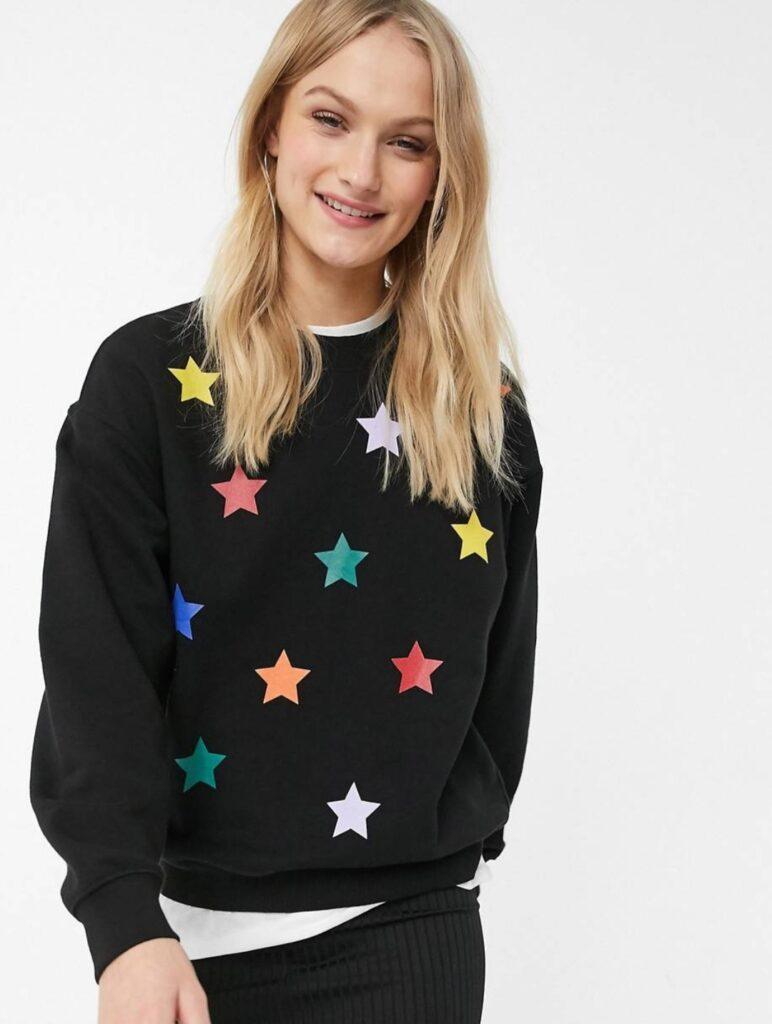 felpa stelle natale
