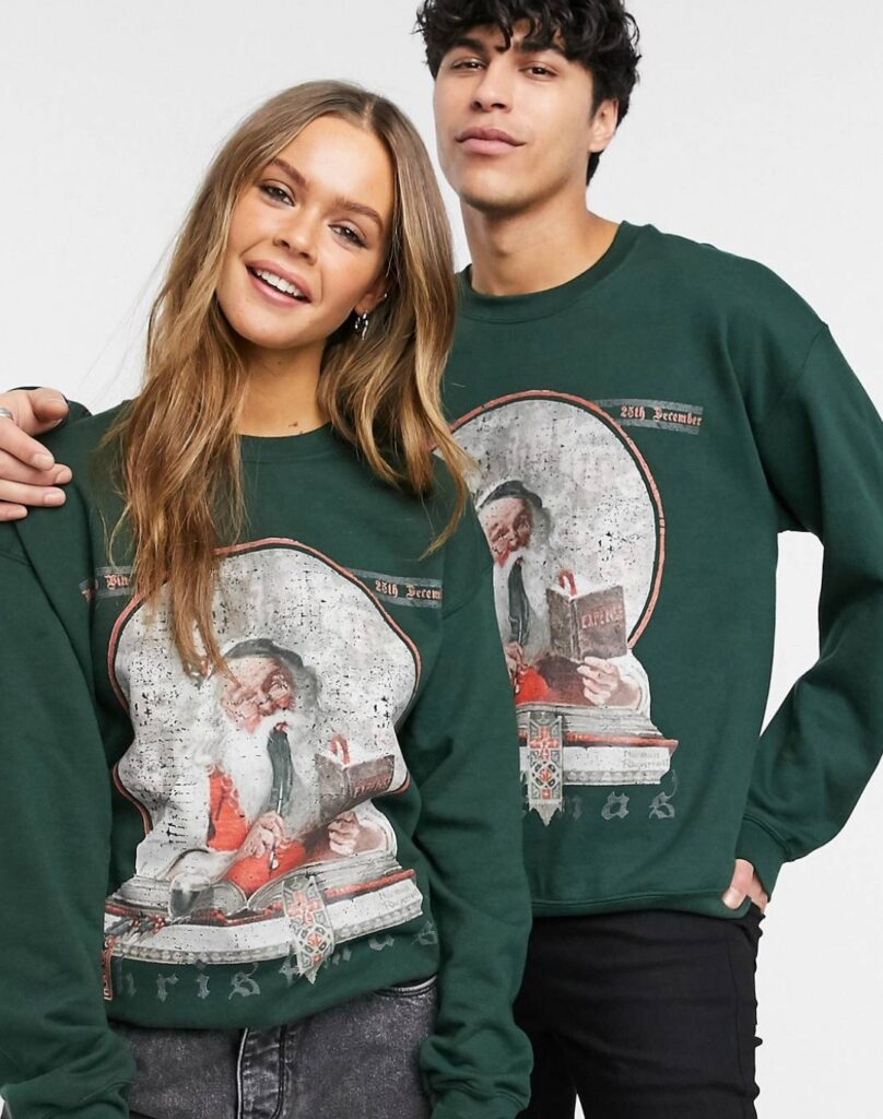 maglione vintage christmas unisex
