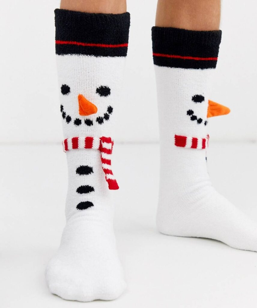 calze pupazzo di neve